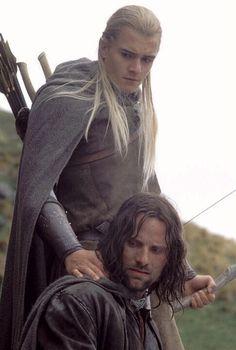 Aragon et Legolas