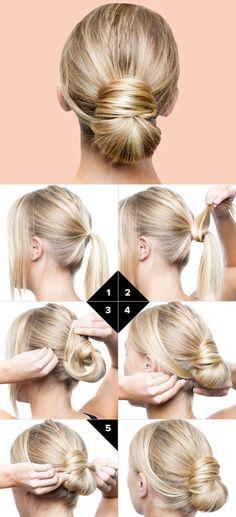 Frisuren für mittleres Haar mit eigenen Händen | Mode