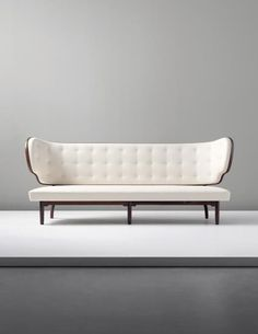 View Important and rare sofa, from the Royal Suite, Radiohuset (National Broadcasting House), Copenhagen by Vilhelm Lauritzen sold at Nordic Design on London 24 September 2014 Learn more about the piece and artist, and its final selling price