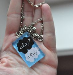Okay/Okay John Green Quote Necklace 1 by AmeryStudios on Etsy, $16.50