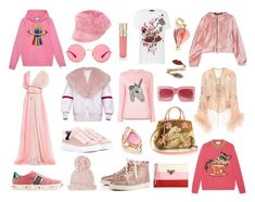 """""""the year in pink 2017"""" by needlework ❤ liked on Polyvore featuring Prada, Ray-Ban, Gucci, Coach, Barneys New York, Smith & Cult, Anna Sui, Stephen Webster, Dolce&Gabbana and NIKE"""