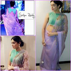 "|| RAMP TO REALITY || Beautiful Adah Sharma dressed up in a Shilpa Reddy Studio Saree from ""Sleepless Blue Waters"" collection for Director Kunal Deshmukh's wedding."