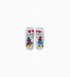 """Image 1 of """"Mickey & Minnie"""" socks from Zara"""