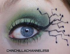 Fantasy forest green eye makeup