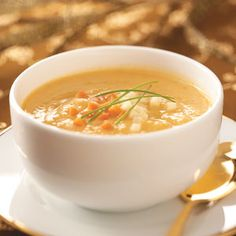 Rustic Autumn Soup - creamy parsnips, carrots, onions, sweet potato, apple,celery - YUM!