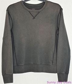 J.Crew Mens Sweatshirt Cotton SunFaded Vintage Fleece Crew 26464 Gray S #JCrew #SweatshirtCrew