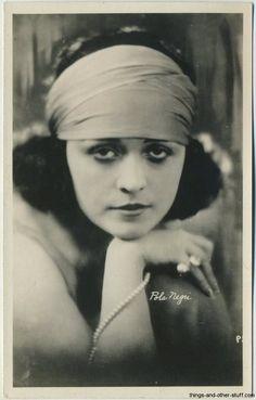 Pola Negri 1920s Real Photo Postcard
