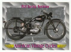 American Vintage Cycles Series I # 66 1949 Harley-Davidson - Champ 1992