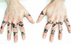 Finger Tattoos Money