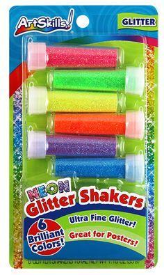 Neon Glitter Shakers!