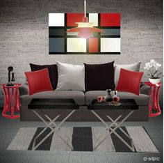 Basement Ideas Go Red And White
