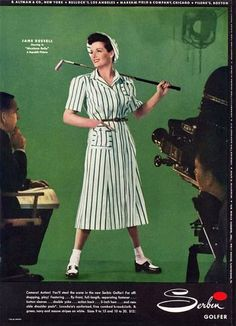 """Golf Fashion for the warmer months (via """"Found in Mom's Basement"""") http://pzrservices.typepad.com/vintageadvertising/"""