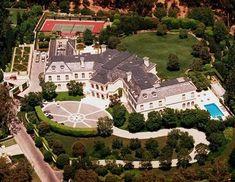 Aaron Spelling's mansion / Mansion Mansion Mansions Architecture
