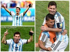 Argentina 1 - 0 Bélgica : Olá,  A Argentina venceu hoje a Bélgica com um gol de Higuain, e passou para as semi-finais da Copa do Mundo, após o jogo Messi era pura alegria, parecia uma criança prestes a ganhar um doce rs.  Bom fim de semana para todos | yolepink