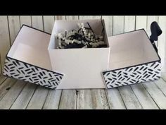 Kirigami Box Tutorial - Stamping the Cape