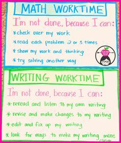 "Classroom Management anchor chart for when students think they are ""done"". …"