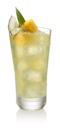 Jamaican inspired layered rum drink. I'm thinking Midori ...
