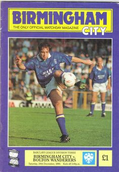 Birmingham City v Bolton Wanderers Football Programme Division 3 29/12/1990