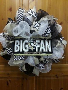 Items Similar To Pittsburgh Penguins Big Fan Wreath On Etsy