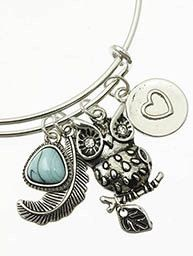 A personal favorite from my Etsy shop https://www.etsy.com/listing/222335909/owl-charm-wire-bangle-bracelet