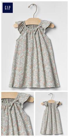 Floral bow flutter dress