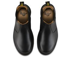 Chelsea boot Classic Dr. Martens smooth leather: durable, with a smooth finish Made with Goodyear welt, the upper and sole are heat-sealed and sewn together Care Instruction: Clean away any dirt using a damp cloth and allow to dry. Apply a correctly coloured wax-based shoe polish to restore shine