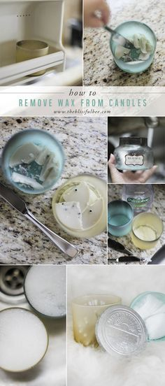 Removing Wax from a Candle