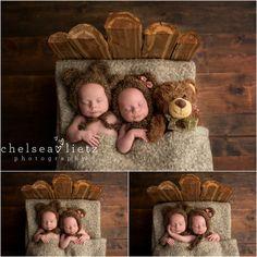 Stone Oak baby photos | Chelsea Lietz Photography, San Antonio, twins, twin photos, 3 little bears, baby bear, bear cubs, twin newborn portraits