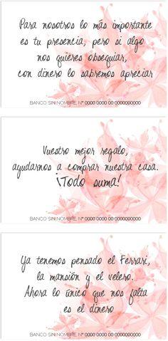 Textos para pedir dinero a los invitados a la boda
