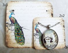24REGAL PEACOCK Necklace and Earring Cards Jewelry by JulryPartZ, $5.00
