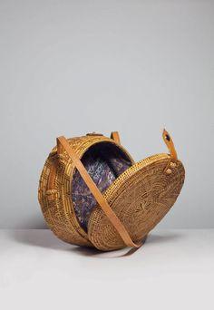 Round Circle Rattan Basket Bag