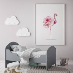 Flamingo print art f