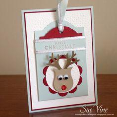 Miss Pinks Craft Spot: Owl Punch Reindeer Gift Card Holder