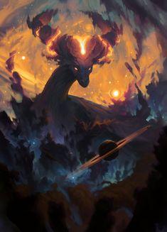 The Cosmic Dragon by Ondřej Hrdina. : ImaginaryMindscapes