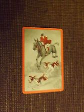 A Vintage Fox Hunt Swap / Playing Card.