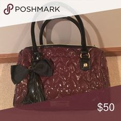 Betsey Johnson Handbag Cute medium size Betsey Johnson bag in a beautiful wine/raspberry color. In perfect shape! Betsey Johnson Bags Mini Bags