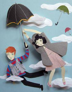 Jayme McGowan - Flying Umbrellas. (Fashion illustration for Small Magazine, Autumn 2008.)