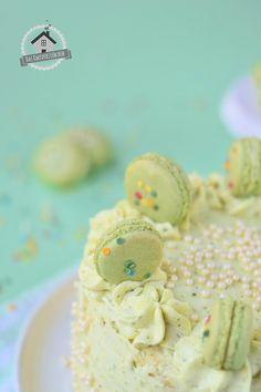 Macaron Pistazien Törtchen - Macaron Pistachio Cake | Das Knusperstübchen