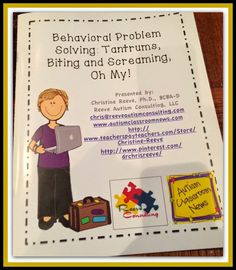 If you have students with challenging behavior, this post has tons of resources available around the web for FREE.  It summarizes a presentation I did on how to handle problem behavior in the classroom.