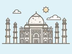 Taj Mahal by Vic Bell