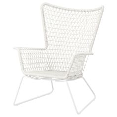 IKEA - HÖGSTEN, Fåtölj, utomhus,  , , Handflätad plastrotting ser ut som naturlig rotting, men håller bättre utomhus.Materialen i denna utomhusmöbel är underhållsfria.Enkel att hålla ren - torka bara av med en fuktig trasa.