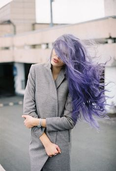 Maybe when I go completely gray (which is probably going to happen soon) I should dye my hair purple or blue and be like a cartoon character
