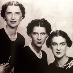 fd_gallery A brief and belated #FD_TriviaTuesday...born in Greece, but related to the royal houses of Denmark through their Father, and of Russia through their mother, they are pictured here c.1940. All would inherit magnificent jewels from their maternal grandmother, one of which, belonging to the Duchess, right, was a large diamond corsage bow brooch, which most recently appeared at the Sotheby's sale of jewels belonging to Jayne Wrightsman in 2012, and sold for $842,500. Name all three…