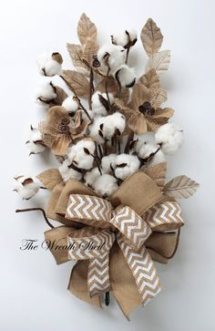 Cotton Anniversary Gift, 2nd Anniversary Bouquet, Natural Cotton Bolls, Wedding Gifts, Cotton Arrangements, Bridal Bouquet, Southern Cotton