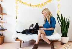 Puppy love in the studio of Sarah Sherman Samuel of A Sunny Afternoon.