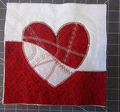 Mended hearts quilt block