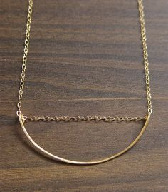 Geometric Moon Gold Necklace by friedasophie on Etsy