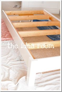 DIY Bed Frame....king with storage underneath and doors for bed head and trunk for bed end