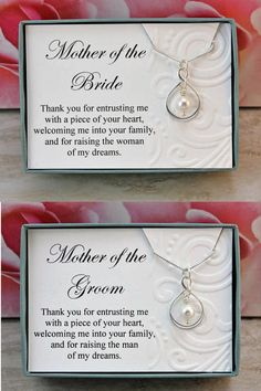 Mother of the Bride necklace gift from Groom Sterling silver infinity necklace Swarovski crystal pearl wedding necklaces, wedding jewelry - Mother of the Bride necklace gift from Groom Sterling silver Mother Of The Groom Necklaces, Mother Of The Groom Gifts, Wedding Gifts For Parents, Bride And Groom Gifts, Gifts For Wedding Party, Bridal Gifts, Mother Gifts, Mother Necklace, Gifts For Grooms Parents