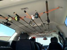 How to stow your fishing rods in your vehicle.